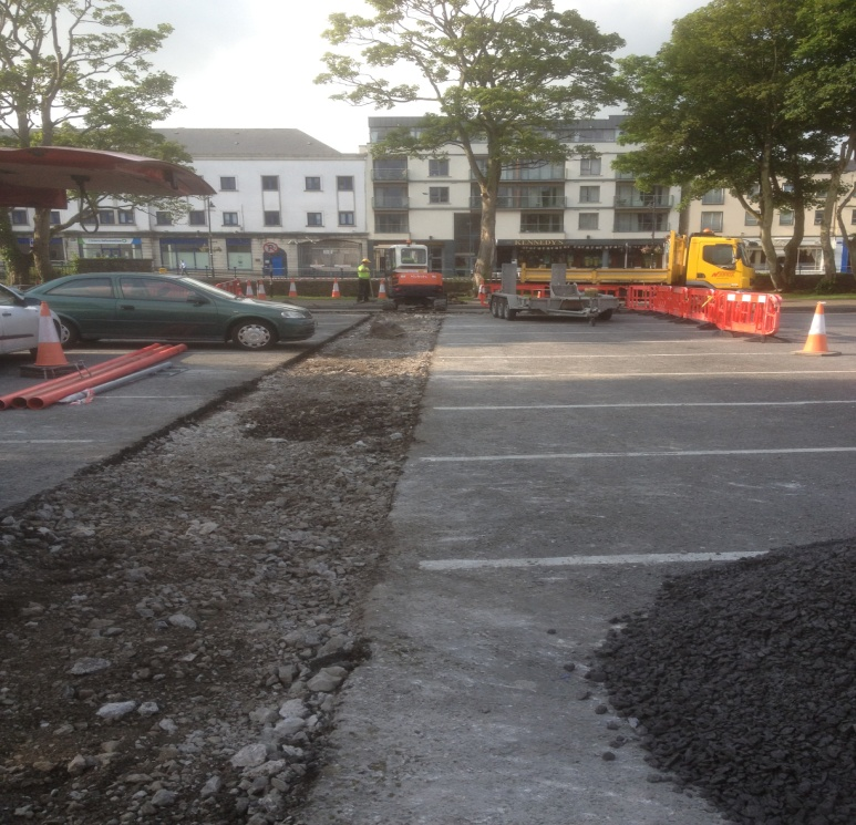 Stephen Street Car Park up grade works