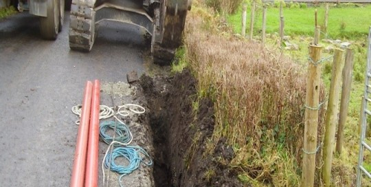 Excavation of Cable Duct Trench